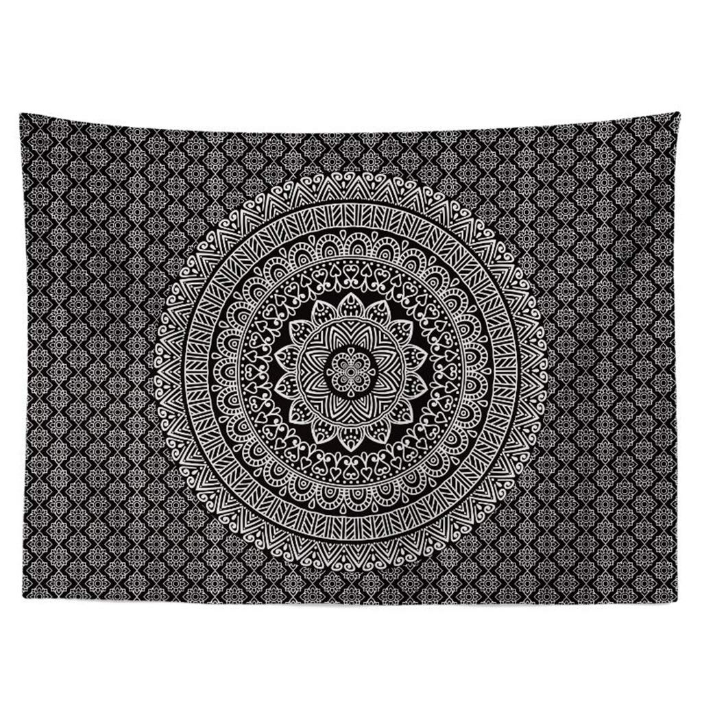 Tapestry 丨 Hippie Mandala Tapestry Home Decoration Mandala Wall Hanging Living Room Bedroom Dormitory Wall Hanging Tapestry - Multi-Color Size Optional Tapestry (Color : F, Size : 200CM×150CM) by HappyL