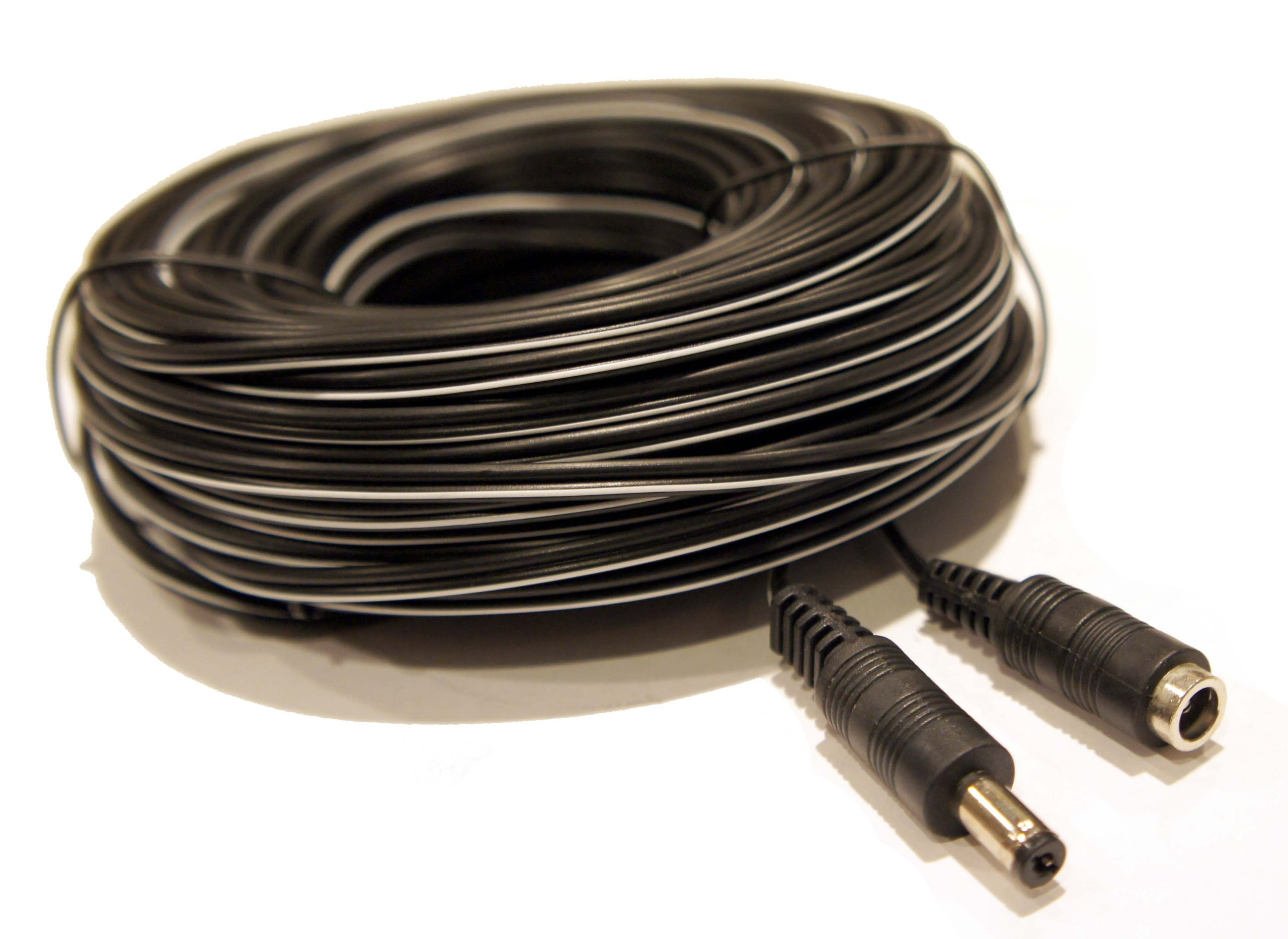 100' 100ft DC 9V 12V 18V 5.5mm x 2.1 Extension Power Cable Cord Wire