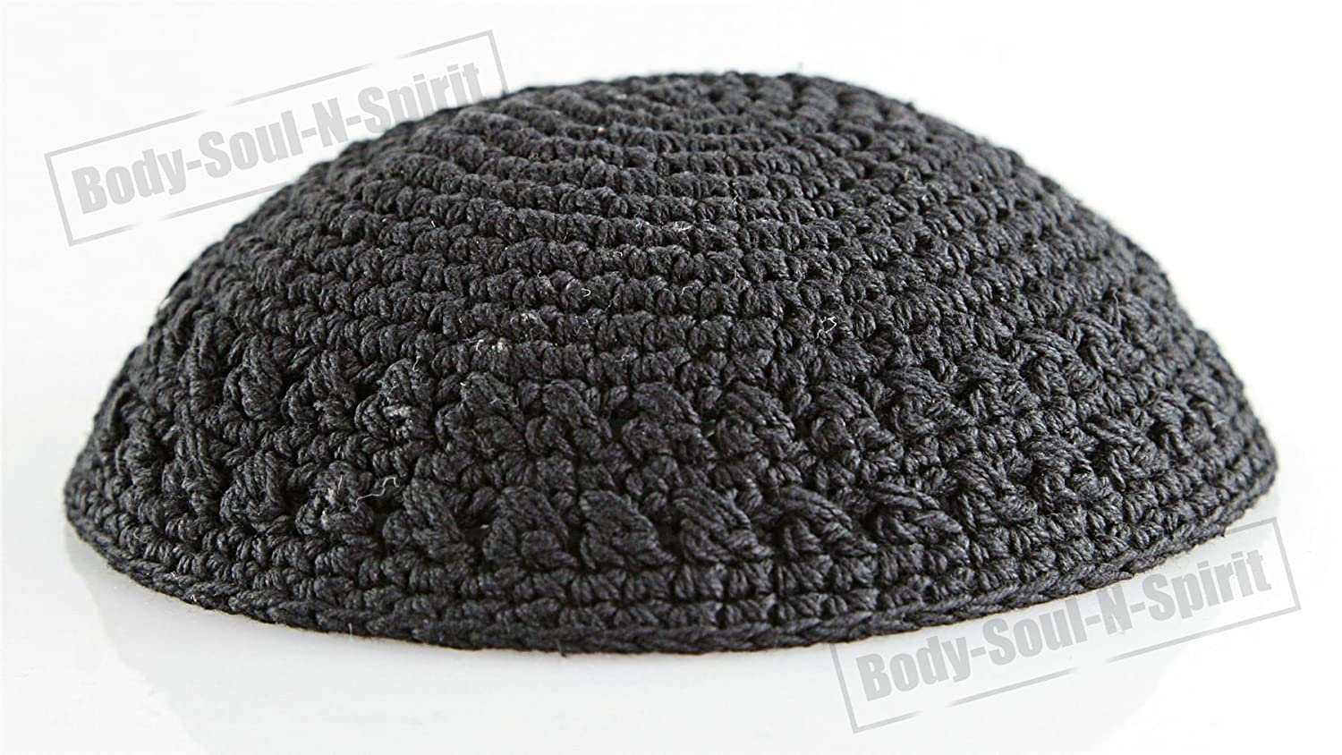 Amazon.com: Black Knitted Kippah Yarmulke Tribal Jewish Yamaka Kippa ...