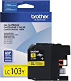 Brother Printer LC103Y High Yield Cartridge Ink, Yellow