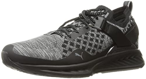 cf49ae6efb147 PUMA Women's Ignite Evoknit LO Pavement WNS Cross-Trainer Shoe, Black- Asphalt-