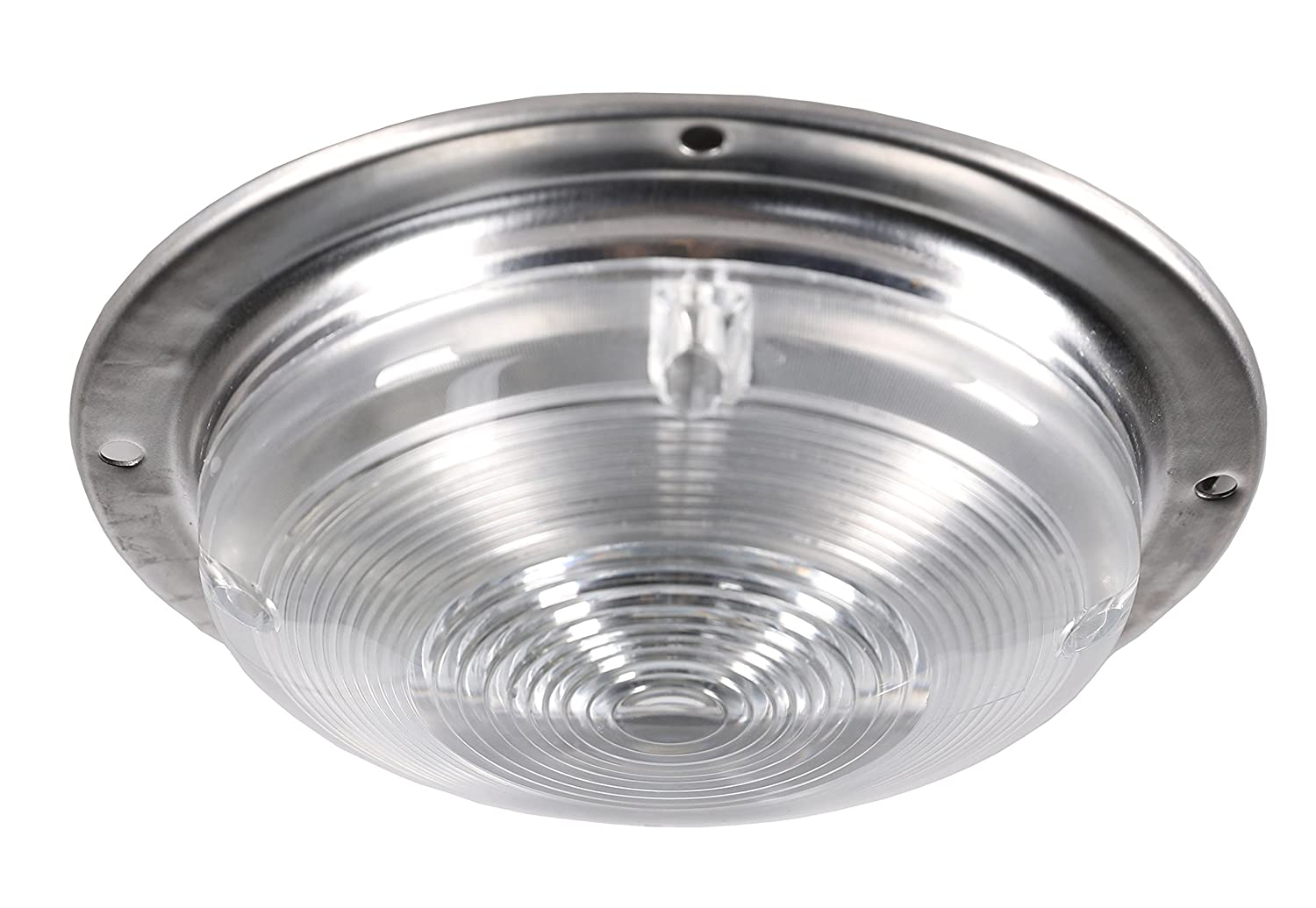 Stainless Steel Silver Base Ceiling//Wall Light Use In Door/&Out Door Facon 12V RV Porch Light Scare Light Security Light