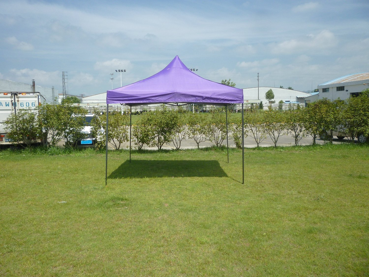 SIFTENT OTLIVE Canopy Gazebo Commercial Canopy Car Shelter Wedding Party Event Easy Pop Up Festival Instant Canopy (10x10 Feet, Purple)