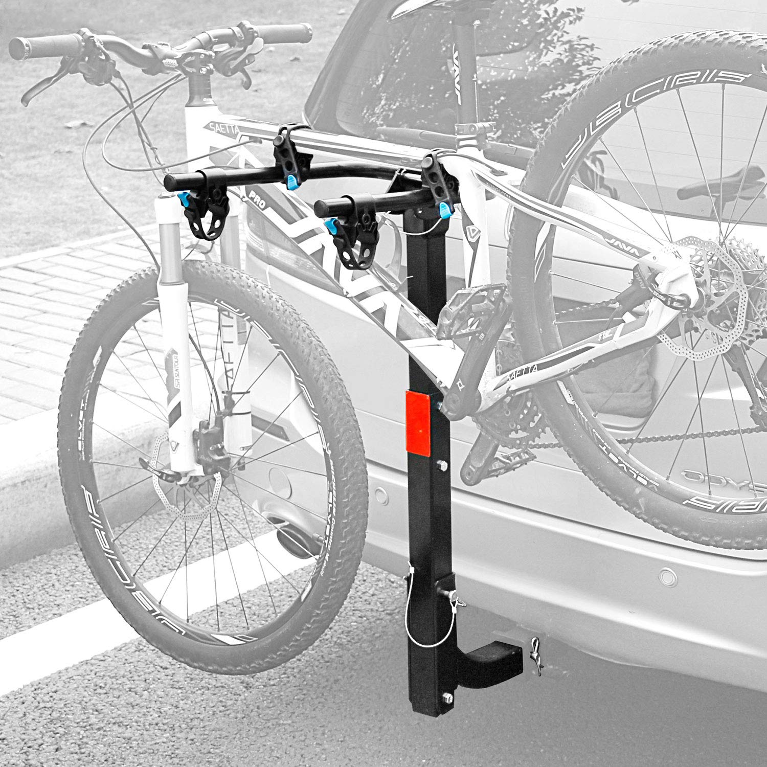 Leader Accessories Hitch Mounted 2 Bike Rack Bicycle Carrier Racks Foldable Rack for Cars, Trucks, SUV's and Minivans with 2'' Hitch Receiver
