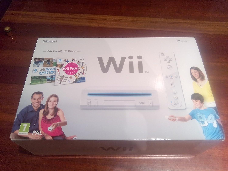 Wii Family Edition + Wii Party + Wii Sport: Amazon.es: Videojuegos