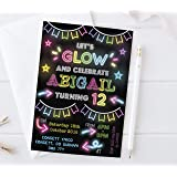 olivia samuel neon party invitations ready to write for birthdays