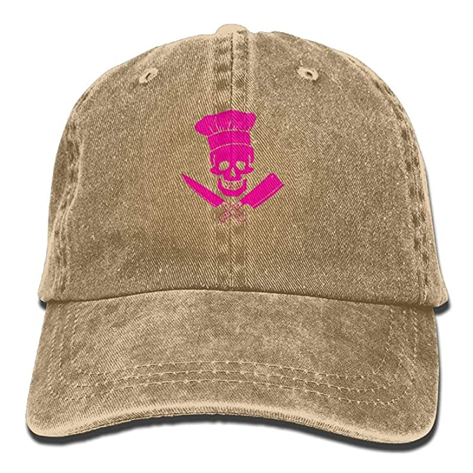 Funny Adjustable Baseball Caps Skull Chef Denim Outdoor Sports Dad ... 1226ae8726bf