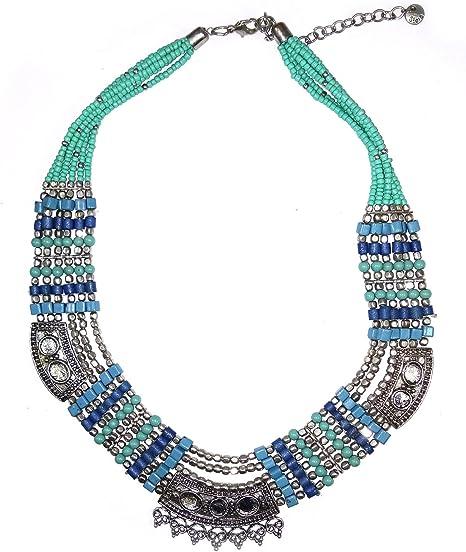 Tribal kuchi handmade 2 layer fashion  turquoise color choker