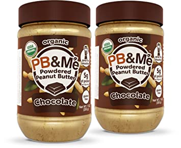 PB&Me USDA Organic Powdered Peanut Butter, Chocolate, Gluten Free, Plant Protein, 7