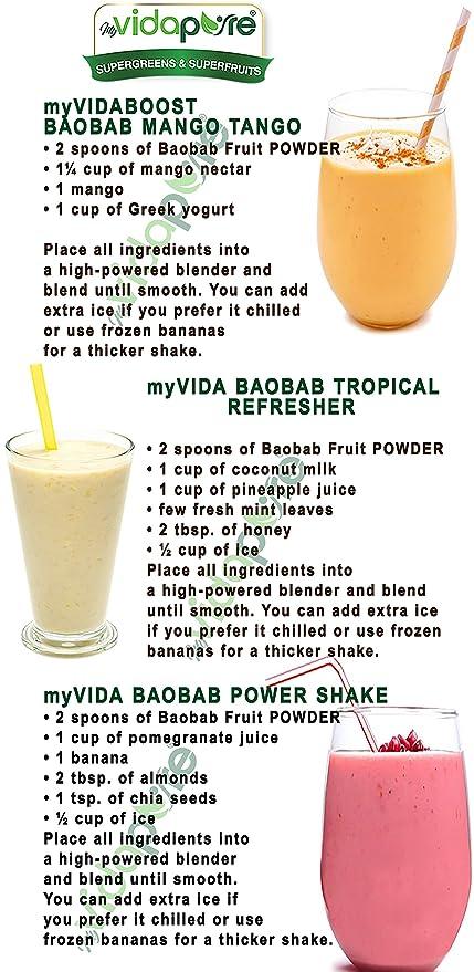 Polvo de fruta orgánica Baobab RAW 100% Pure SUPERFOOD Suplemento ...