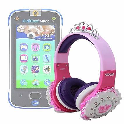 Amazon Com Children S Princess Tiara Headphones In Pink Purple