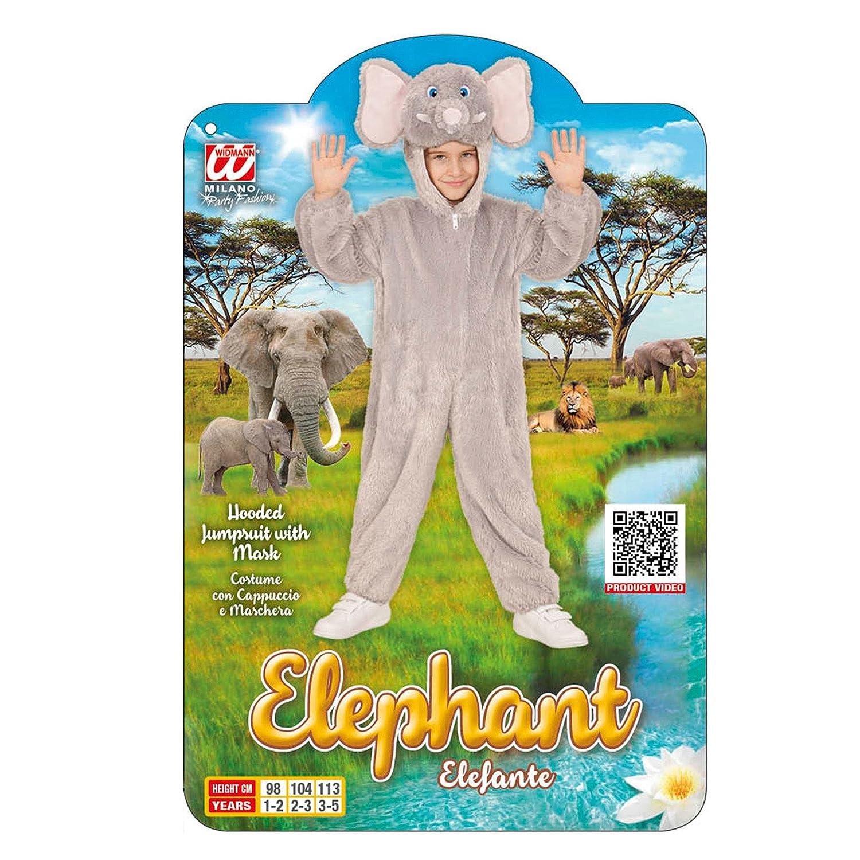 WIDMANN 98102 Infantil Disfraz Elefante de Peluche, Mono con Capucha y máscara: Amazon.es: Juguetes y juegos