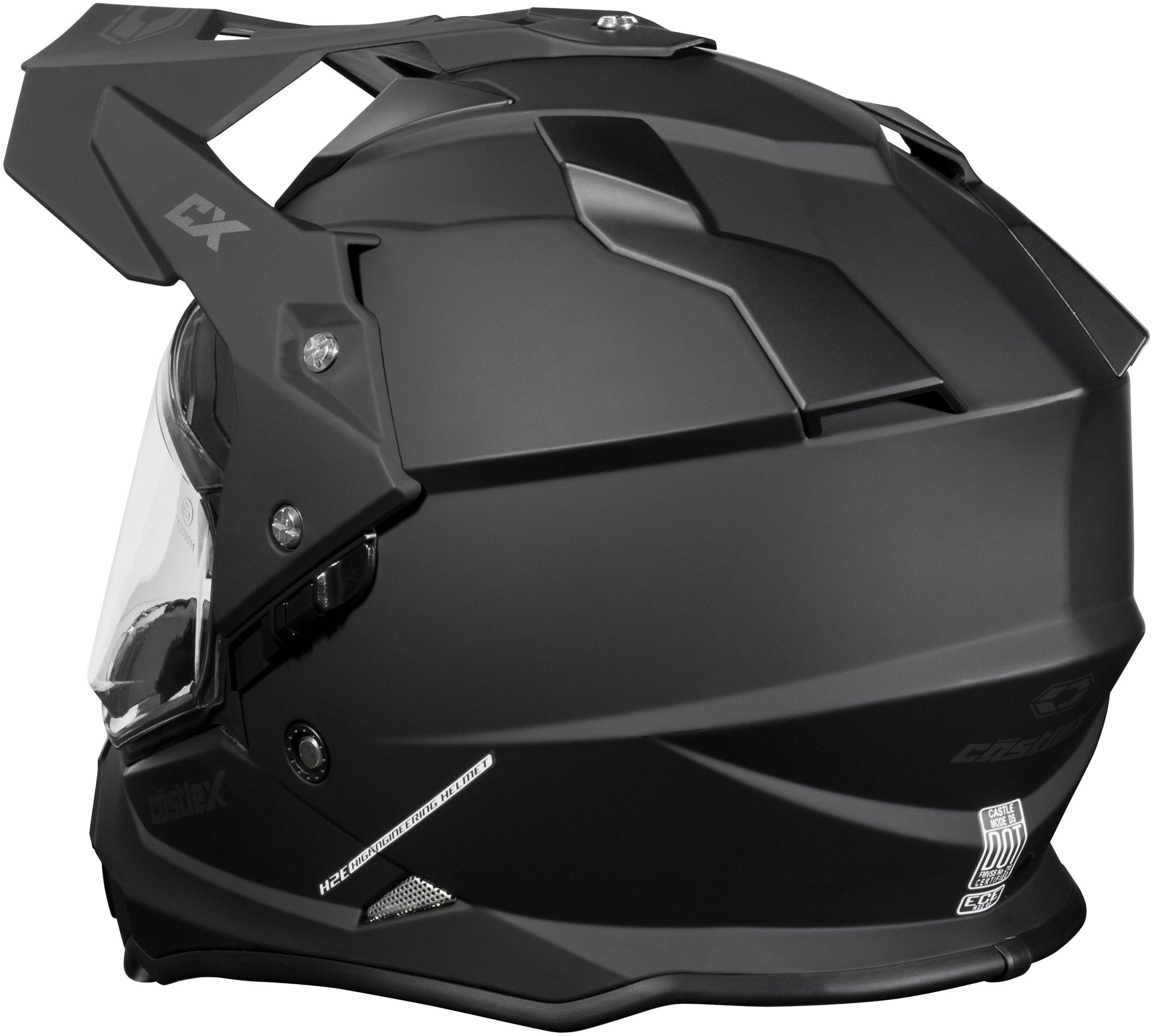 Castle Mode Dual-Sport SV Motorcycle Helmet (3XL, Matte Black) by Castle (Image #2)