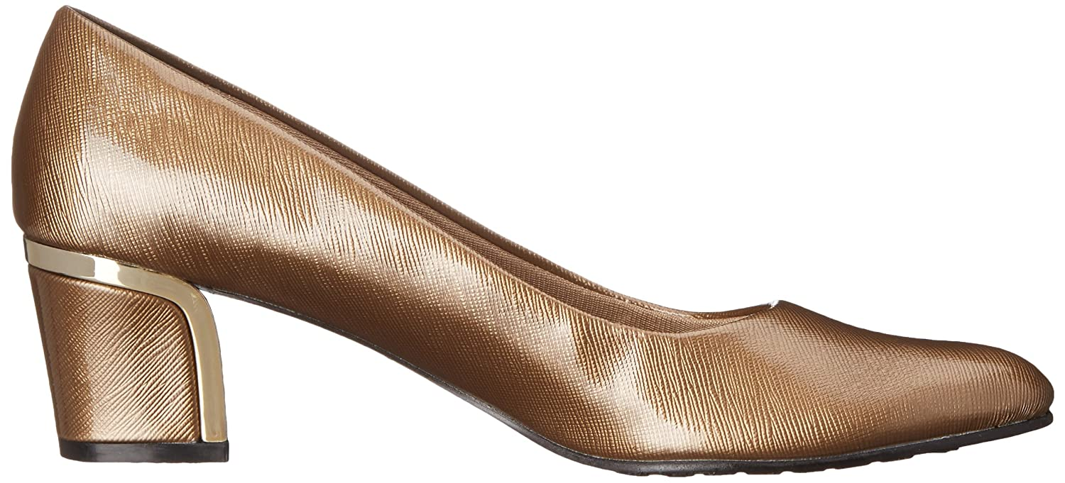 Soft Style Hush Puppies W Women's Deanna Dress Pump B00S3Z56OE 8 W Puppies US|Gold Crosshatch Patent 6821e3