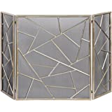 Amazon.com: Threshold™ Mission Fireplace Screen - Black with ...