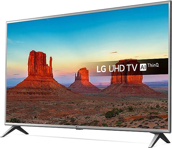 LG Electronics 75uk6500pla 75 Pulgadas uhd 4k HDR Smart TV led con TDT Play - Plata Acero/Negro (2018 Model)