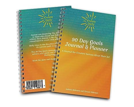 Amazon Com I Create Daily Diario De 90 Días Con Objetivos
