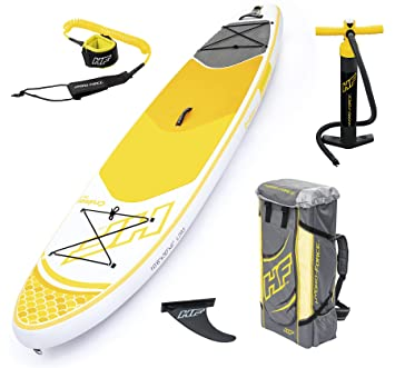 Bestway 65305 - Tabla Paddle Surf Hinchable Hydro-Force Cruiser Tech Bestway en blanco y