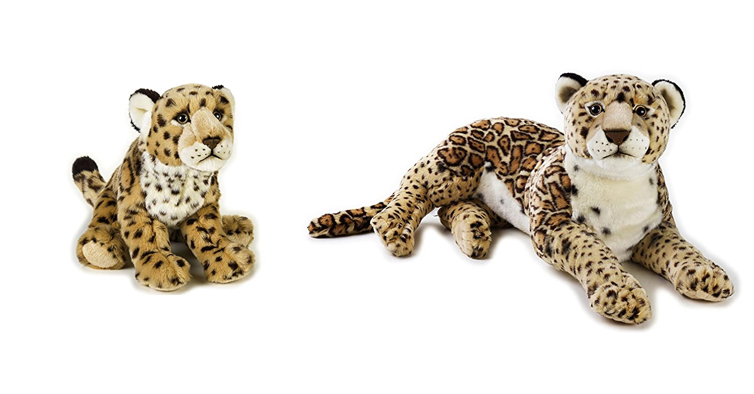"10.5/"" National Geographic Leopard Mother 22/"" and Leopard Baby Plush Set"