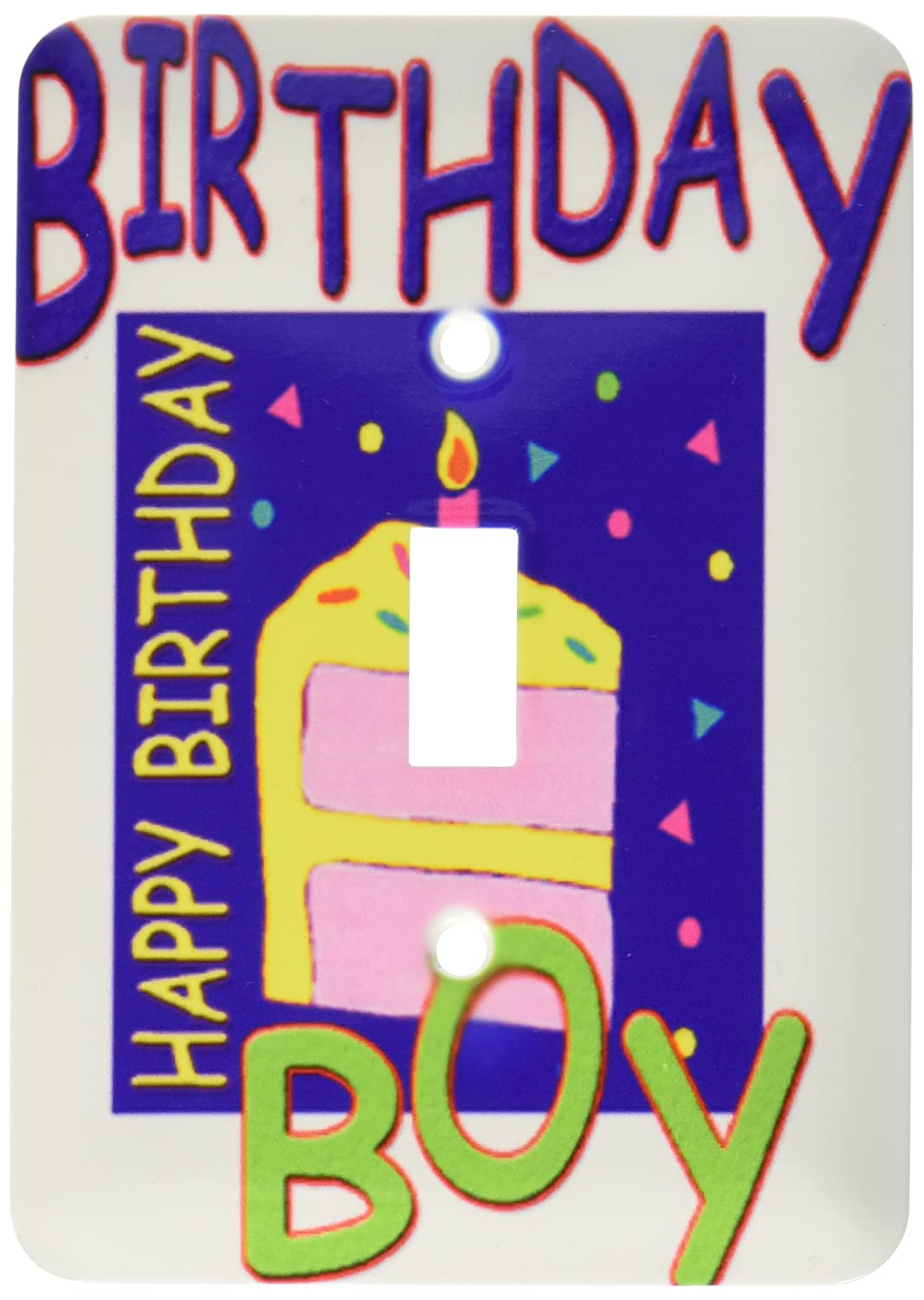 3dRose lsp_2335_1'Birthday Boy 2' Single Toggle Switch