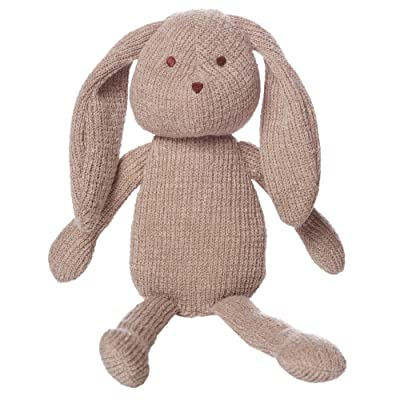 "Manhattan Toy Clover Knit Fabric Bunny Stuffed Animal, 8"": Toys & Games"