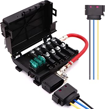 Amazon.com: Battery Fuse Box Terminal 1J0937550 compatible with 99-04 VW  beetle Jetta Bora Golf MK4 with Wiring Harness Pigtail Connector: Automotive