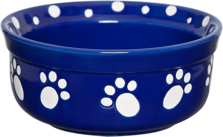 Signature Housewares Paws Dog Bowl, Large, Cobalt Blue