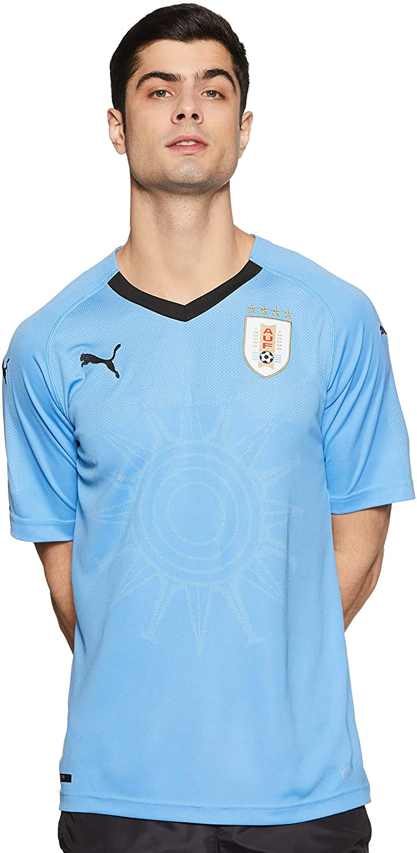 PUMA 2018-2019 Uruguay Home Football Soccer T-Shirt Jersey