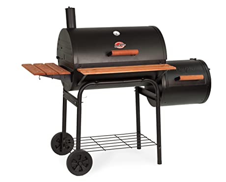 Char-Griller 1224 Smokin' Pro 830 Square Inch Charcoal Grill with Side Fire Box