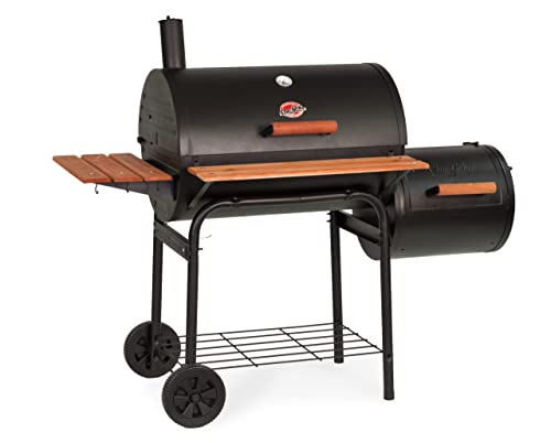 Char-Griller E1224 Smokin Pro Charcoal Grill With Side Firebox