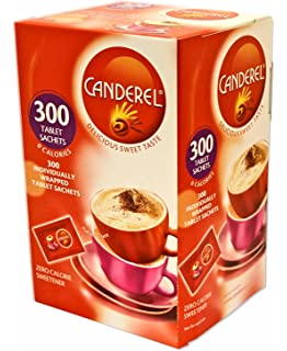100 Individual Red Canderel Low Calorie Sweetener Tablet
