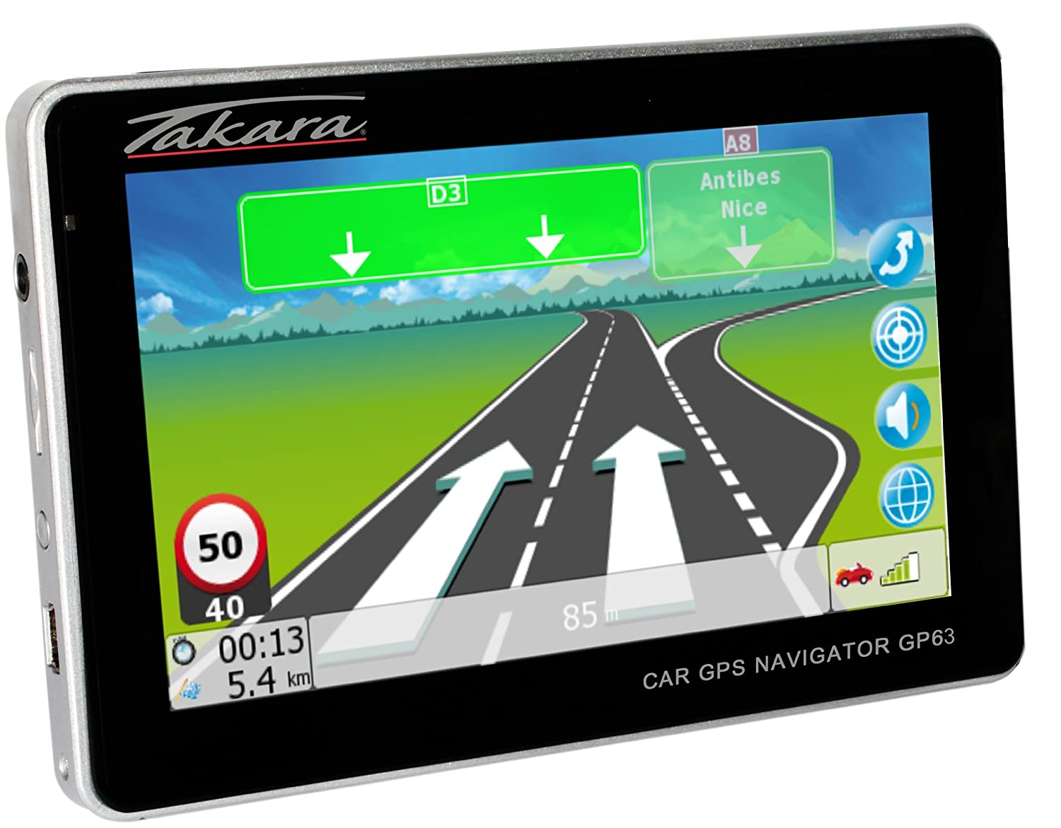Navigation GPS TAKARA GP63 NOIR EUROPE