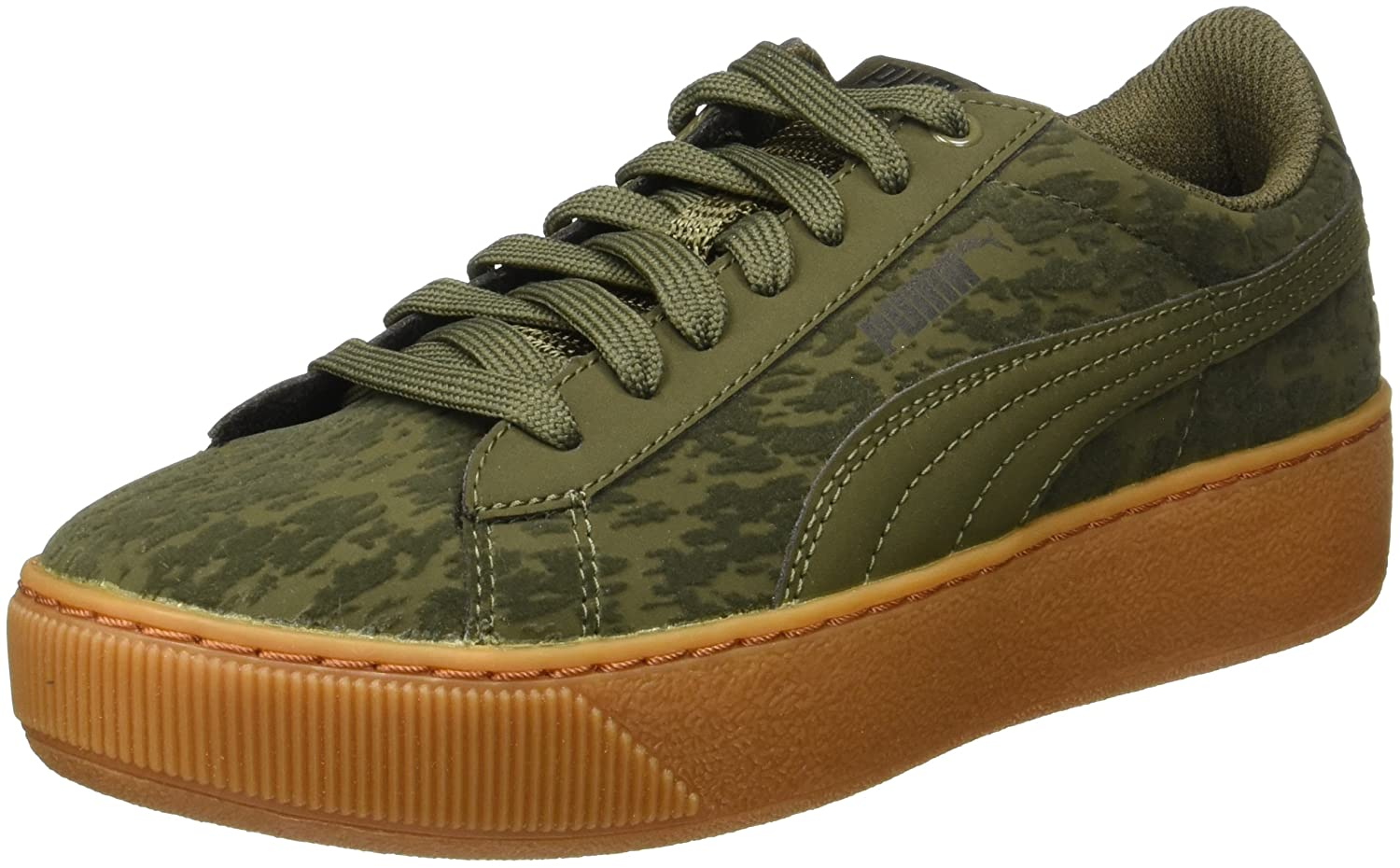 38d3ae732a3 Puma Women s Vikky Platform Vr Olive Night-Olive Night Sneakers - 8  UK India (42 EU)(36373001)  Buy Online at Low Prices in India - Amazon.in