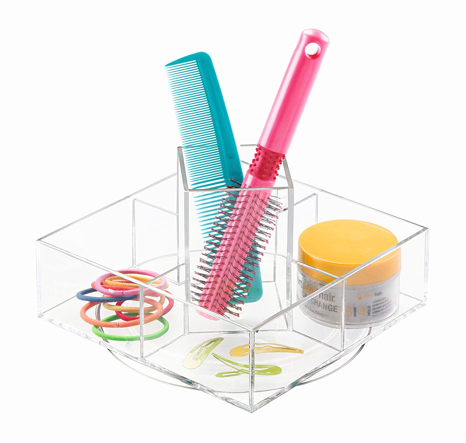 InterDesign Luci Turntable Cosmetic Organizer for Vanity Cabinet to Hold Makeup and Beauty Products, Clear 20250EU