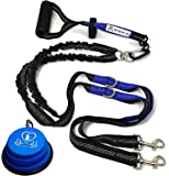 """Pet Fit For Life Light Weight 64"""" Premium Dual Dog Leash with Comfortable Soft Grip Foam Rubber Handle and Integrated…"""
