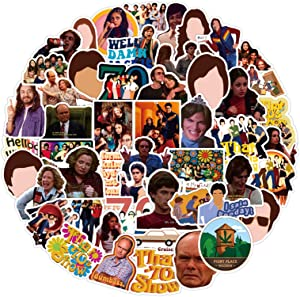 Classic Comedy That 70s TV Show Stickers Laptop Stickers Waterproof Skateboard Snowboard Car Bicycle Luggage Decal 50pcs Pack (That 70s Show)