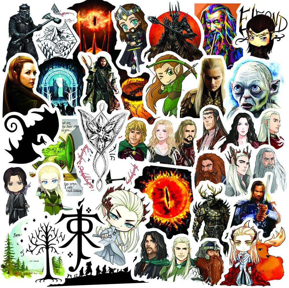 Hobbit Stickers for Water Bottles,Eyes Stickers Decals for Laptop Cups Tumbler Bike Car Guitar Motorcycle Bumper Luggage Skateboard, Best Gift for Adults (Hobbit)