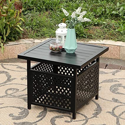 Amazon Com Phi Villa 22 X 22 Outdoor Umbrella Side Table Stand