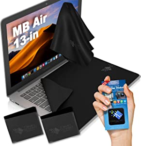 CLEAN SCREEN WIZARD for Laptops MacBook Air, Black