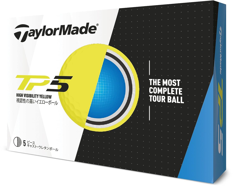 TAYLOR MADE(テーラーメイド) ゴルフボール TP5 ゴルフボール(1ダース12個入り) 2018年モデル ボールカラー:イエロー メンズ B1350301 イエロー ディンプル:322シームレス カバー:ウレタン   B079Z3LCZK