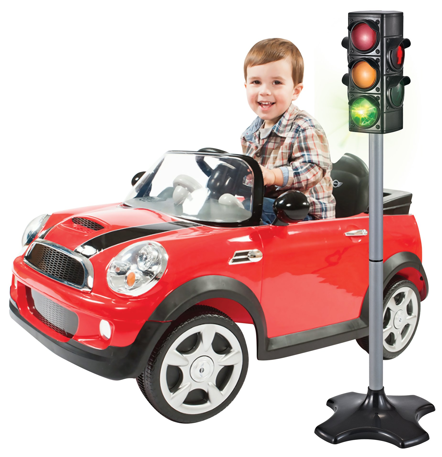 MMP Living Toy Traffic & Crosswalk Signal with Light & Sound - 4 Sided, Over 2 feet Tall by MMP Living (Image #2)