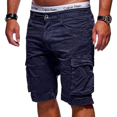 926caf384631be MT Styles Herren Cargo-Shorts Bermuda Kurze Hose Chino X-6717 [Dunkelblau,