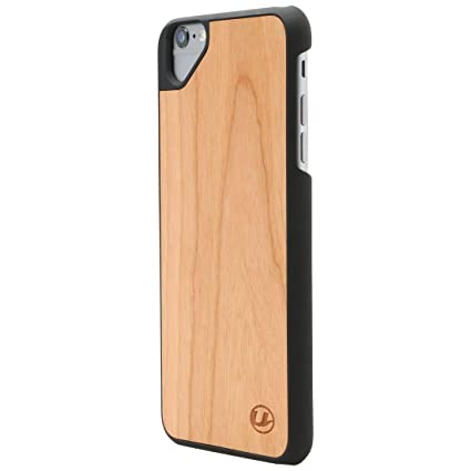Ultratec Schutzhülle für iPhone 6 Plus und 6s Plus, Naturholz-Hülle mit Special Eye, Kirschholz