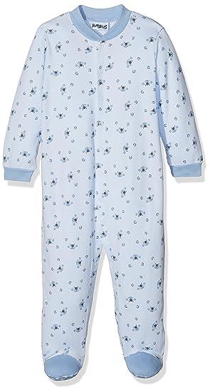 Bimbus 173IBMN001, Pelele para Dormir Unisex bebé, Azul (Cielo 04 103),