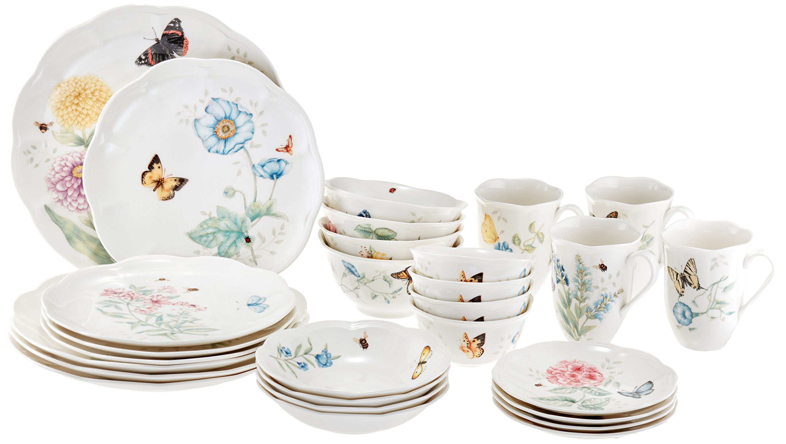 Lenox 28 Piece Butterfly Meadow Classic Dinnerware Set product image  sc 1 st  Amazon.com & Best Rated in Dinnerware Sets u0026 Helpful Customer Reviews - Amazon.com