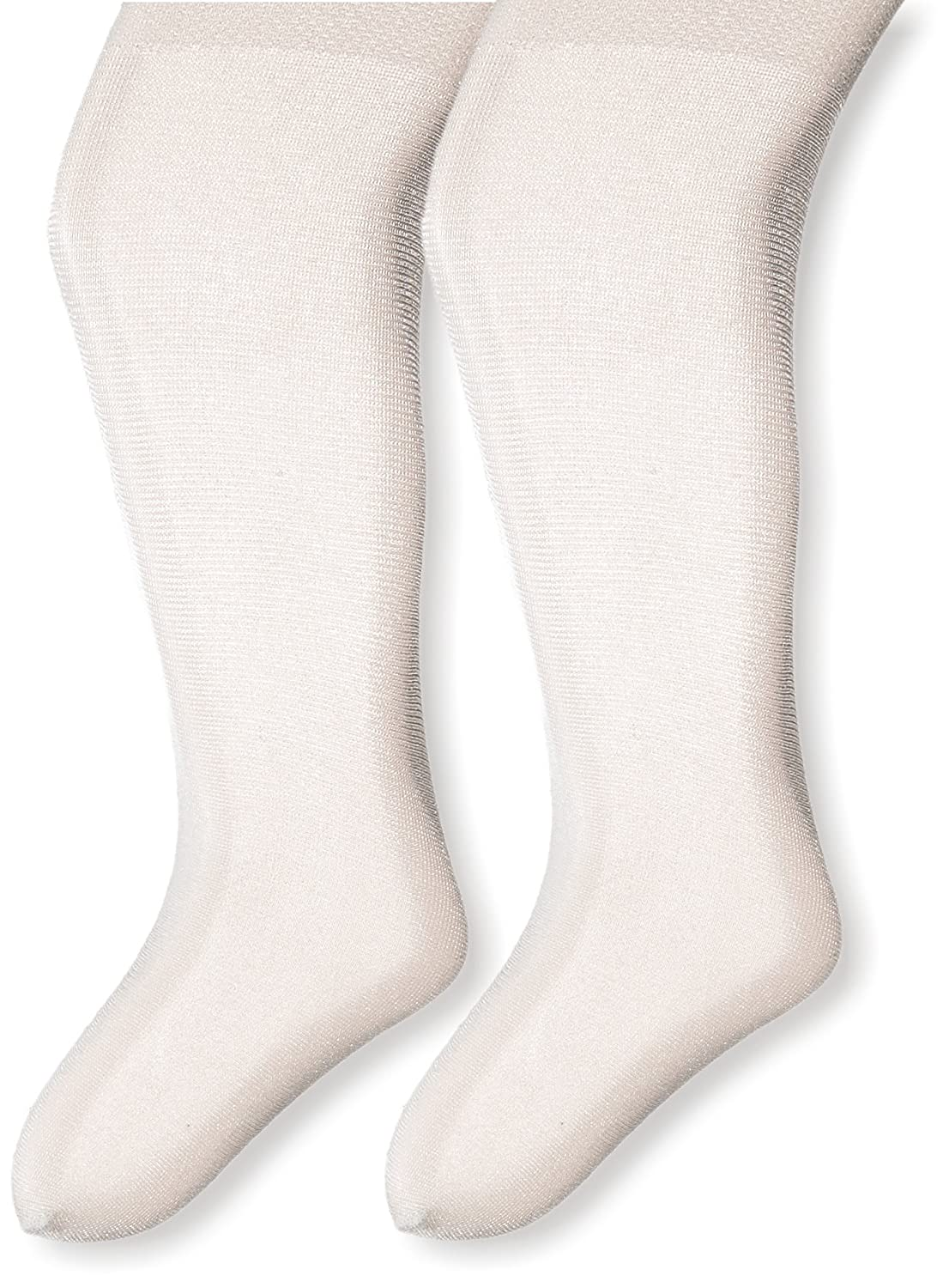 Country Kids Baby Girls' Pearl Shimmer Opaque Tights 2 Pair Pack Ivory 0-12 Months L9242