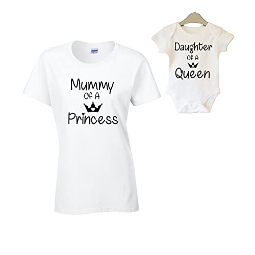 Mother and Daughter Son Matching T-Shirt and Vest Women Kids New Born Gift Baby Shower