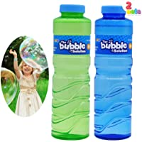 JOYIN 2 Pcs 16 oz Bubble Solution Refill (up to 5 Gallon) for Large Summer Party Celebrations, Concentrated Bubbles…