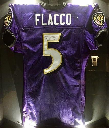 Joe Flacco Team Issued Signed Ravens Pro NFL Game Jersey NFL/PSA ...