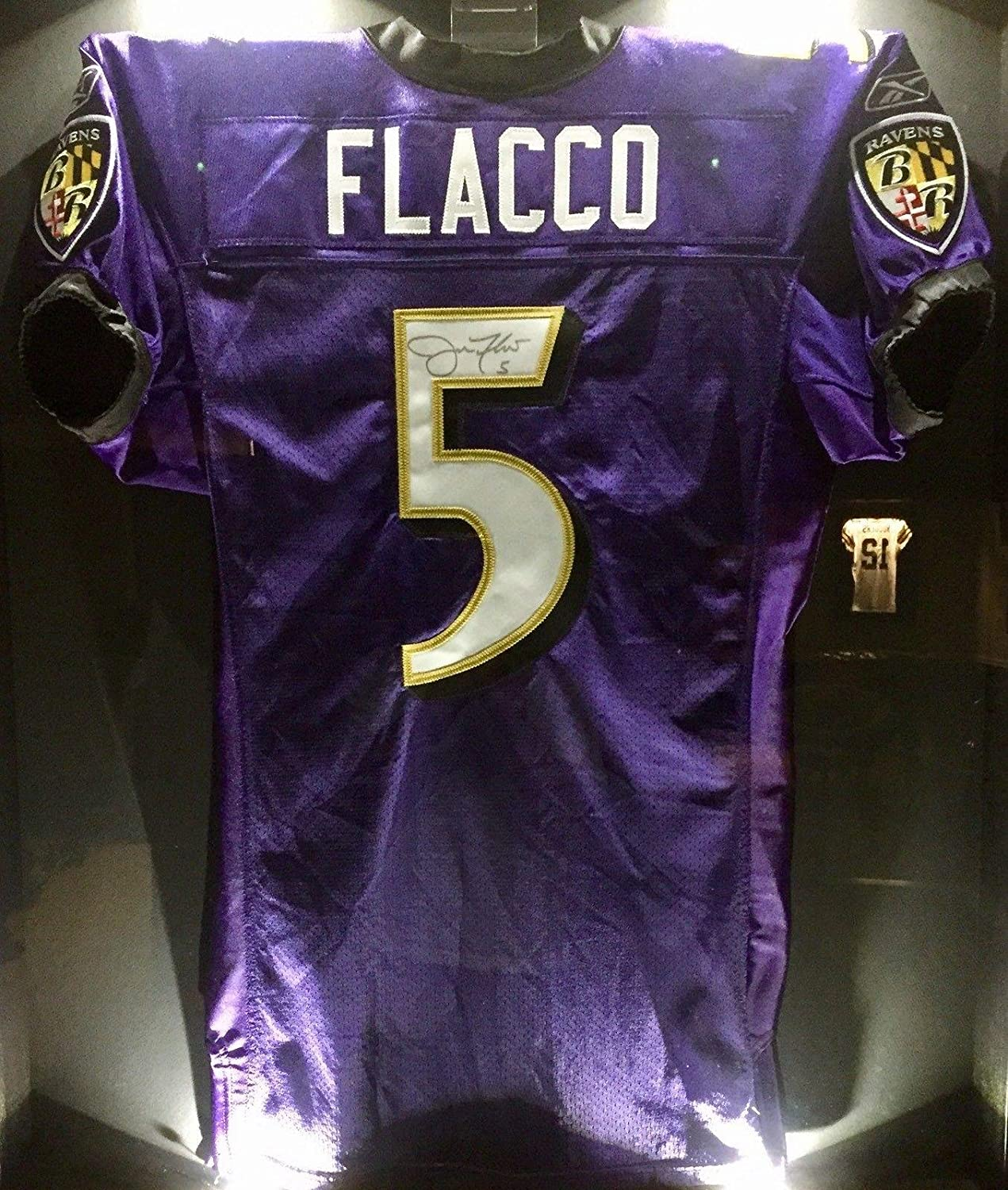 uk availability 56ee1 11d1f Signed Joe Flacco Jersey - Team Issued Pro Game SB XLVII MVP ...